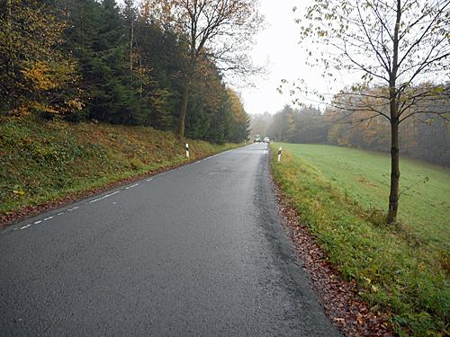 Die K26 zwischen Dickhausen und Thierseifen (Foto: Oberbergischer Kreis)