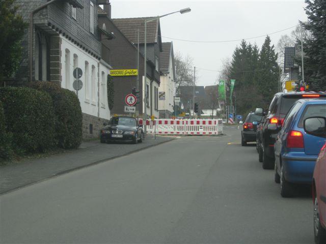 Bild der Baustelle Ausbau Alsbergstraße vom 17.03.2011