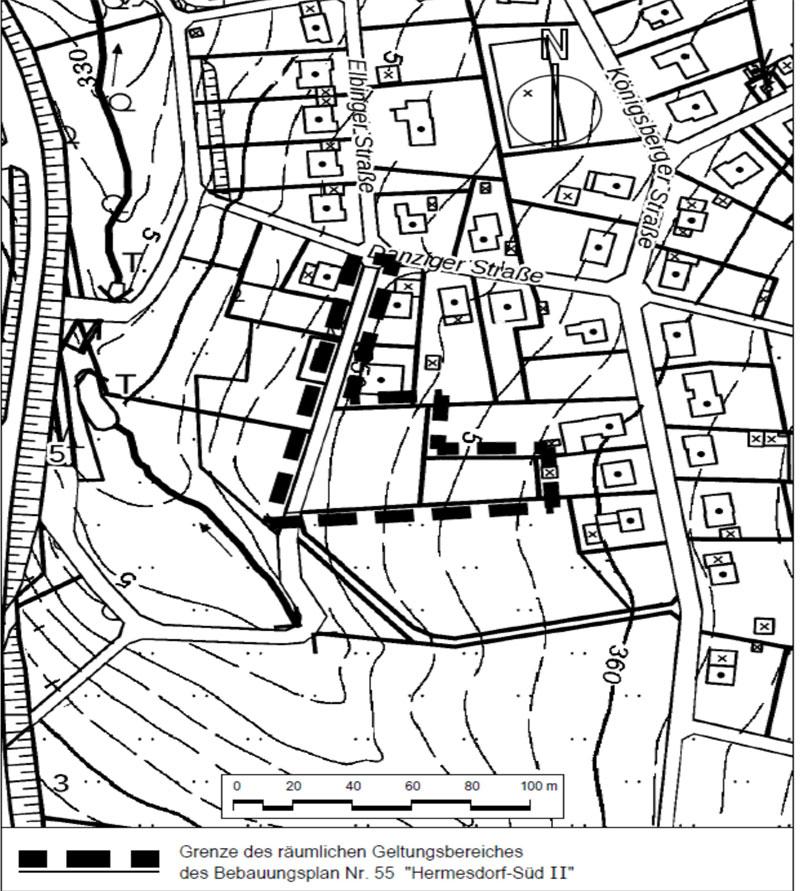 "Bebauungsplan Nr. 55 ""Hermesdorf-Süd II"" der Marktstadt Waldbröl"