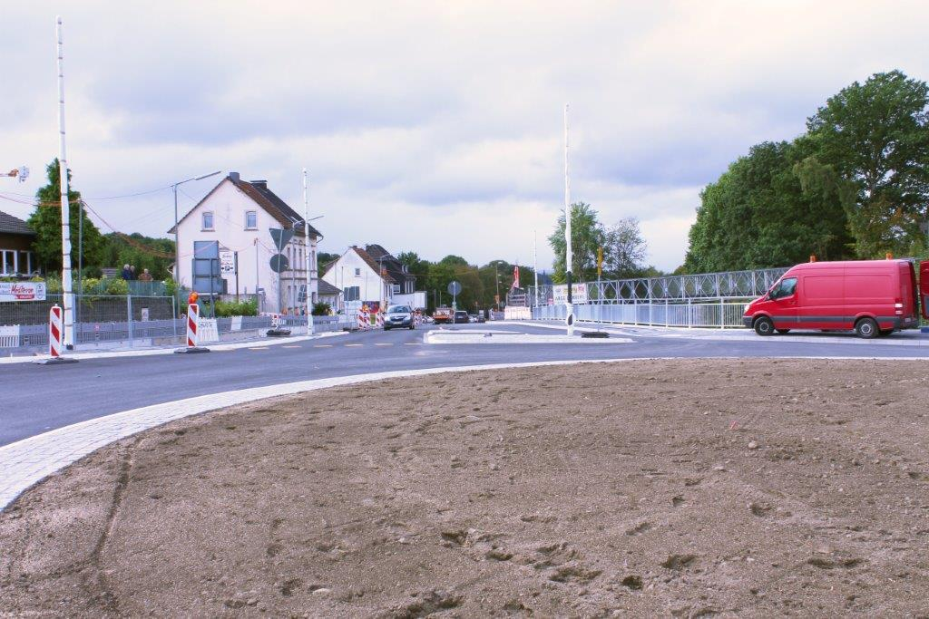 Bauarbeiten am Boxbergkreisel kommen gut voran