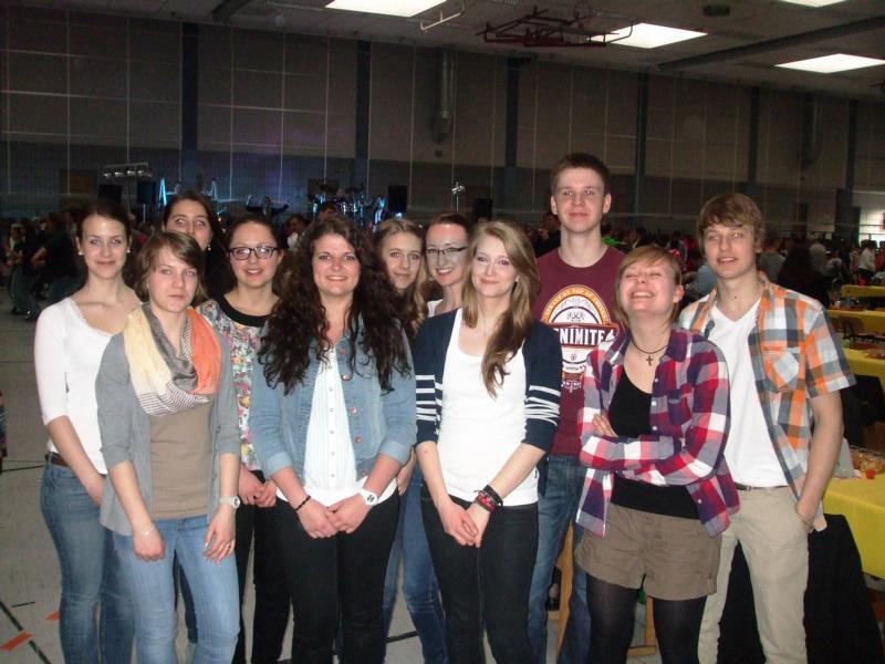 Der HGW-Schulchor CANTO bei der Veranstaltung in der Nutscheidhalle