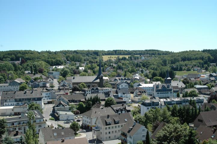 Blick über einen Teil der Waldböler Innenstadt