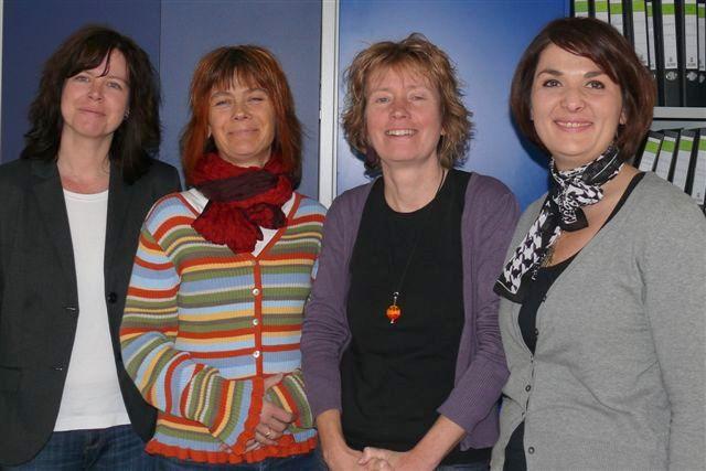 Ein starkes Team: Die vier Sozialarbeiterinnen Kristina Schüttler, Julia Schröder-Koch, Anette Weber(Leiterin) und Belma Haderic-Müller beraten ver-und überschuldete Klienten.