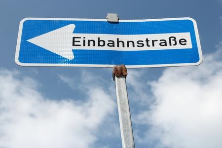 Symbolfoto Einbahnstraße