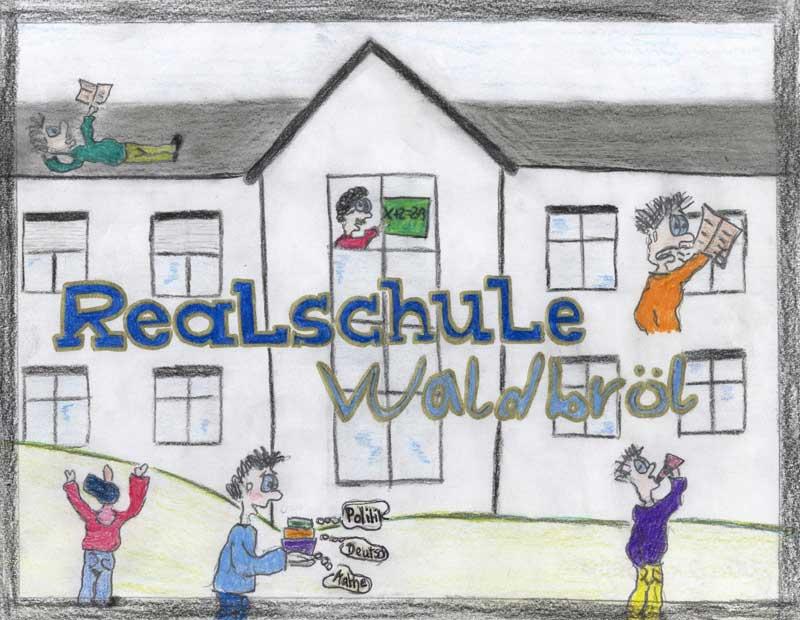 Gemaltes Bild der Realschule Waldbröl