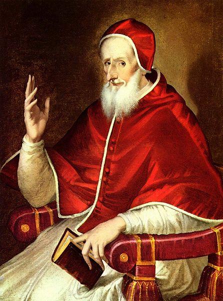 Porträt des Papst Pius V. von El Greco, entstanden um 1600