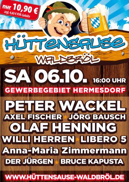 Flyer zur Veranstaltung »Hüttensause« in Waldbröl
