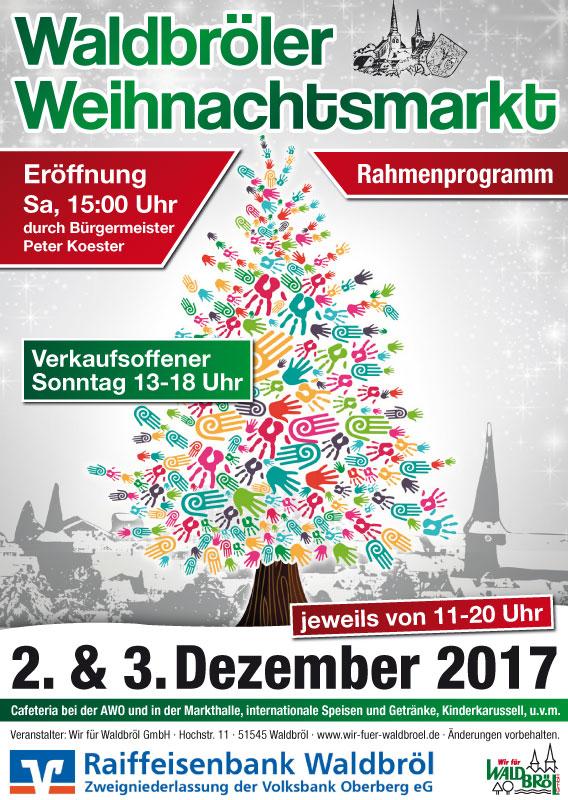 Plakat zum Weihnachtsmarkt Programm des Weihnachtsmarkts