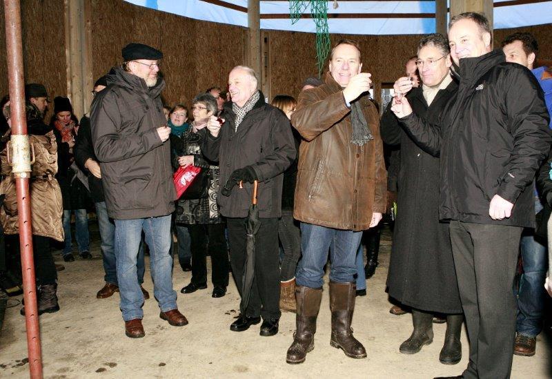 Der Panarbora-Park nimmt Gestalt an – Das erste große Richtfest wurde gefeiert
