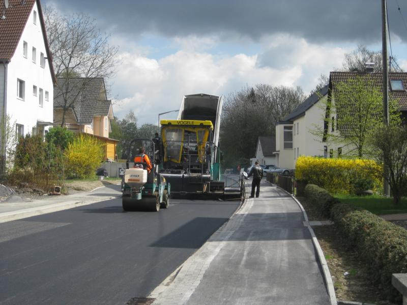 Baustelle an der Homburger Straße