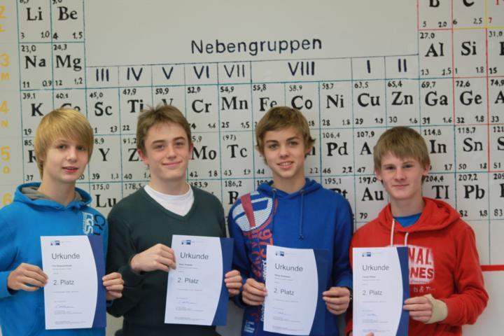 Die Schüler des Hollenberg-Gymnasiums erhielten Urkunden für ihre Teilnahme am Wettbewerb