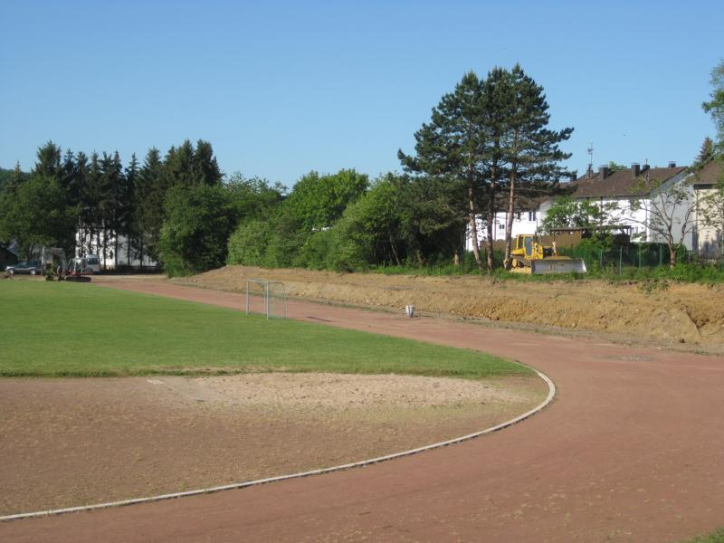 Die Sanierungsarbeiten im Sportstadion laufen auf Hochtouren Die Sanierungsarbeiten im Sportstadion laufen auf Hochtouren