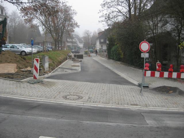 Baustelle an der Alsbergstraße