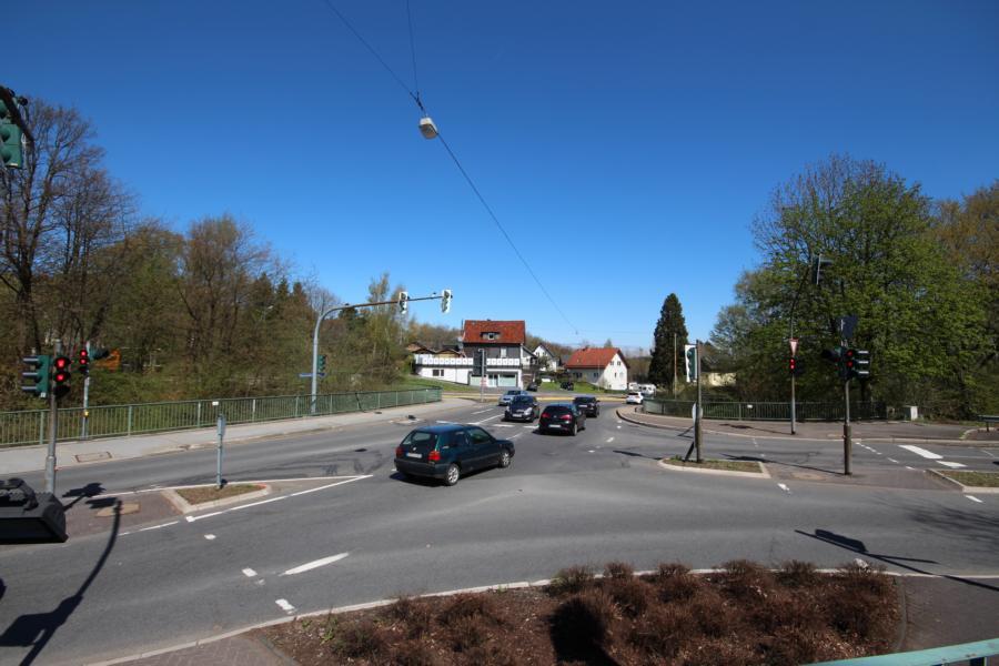 Kreuzung auf der Boxbergbrücke