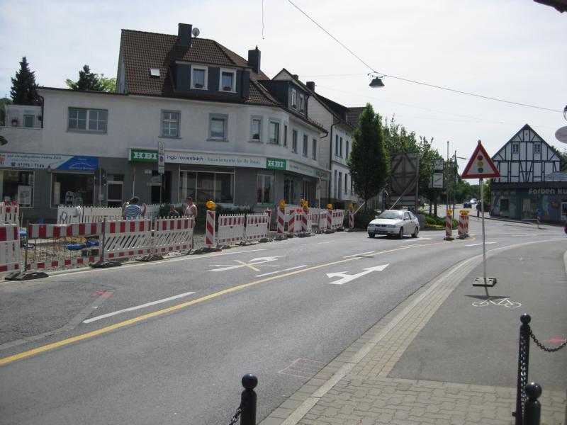 Baustelle an der Kaiserstraße