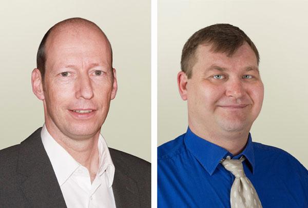 Michael Fuchs (li.) verzichtet auf seinen Sitz im Stadtrat, Alex Schulz (re.) wird Nachfolger.