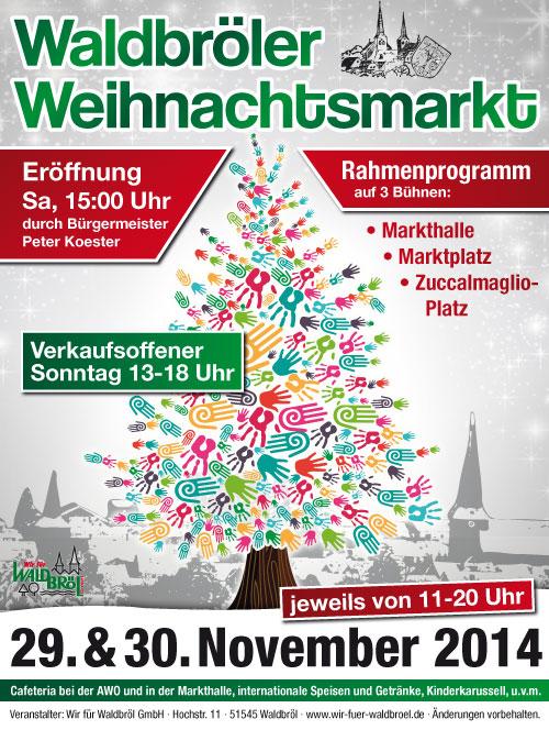 Waldbröl Weihnachtsmarkt-Plakat 2014
