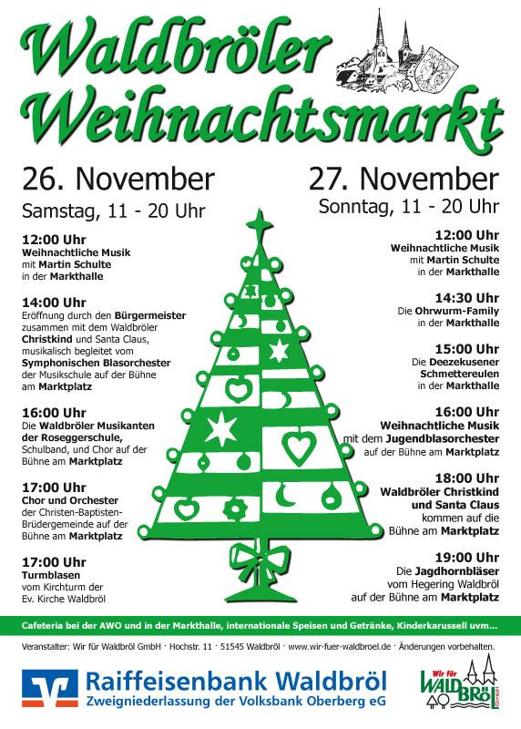 Plakat zum Waldbröler Weihnachtsmarkt 2011