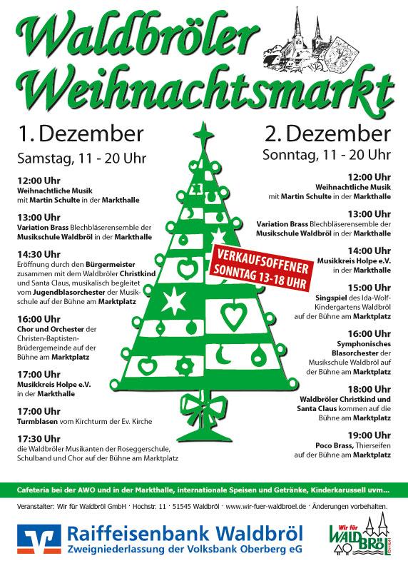 Plakat zum Weihnachtsmarkt 2012