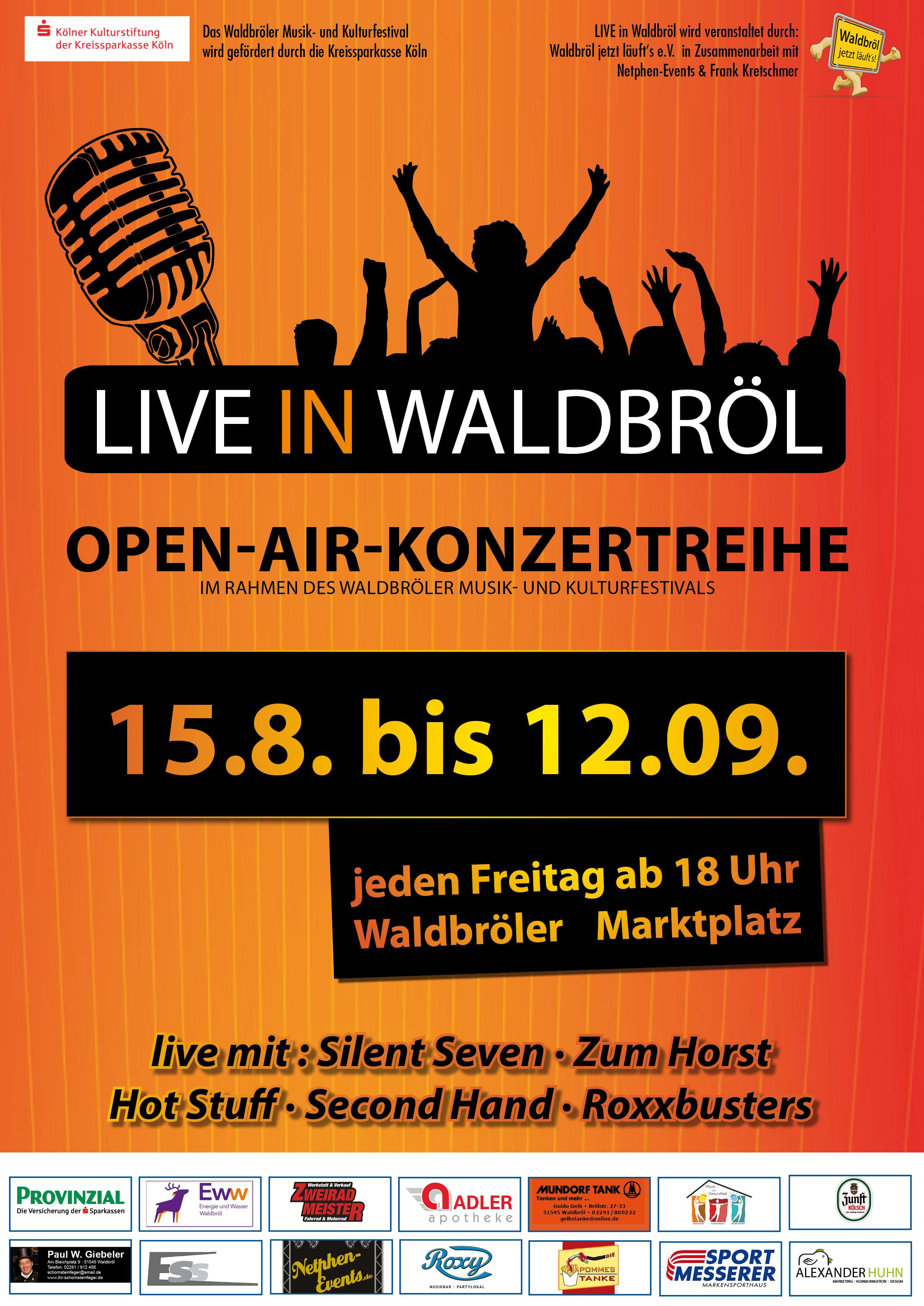 Plakat zu LIVE in Waldbröl mit allen Inhalten zum Konzert