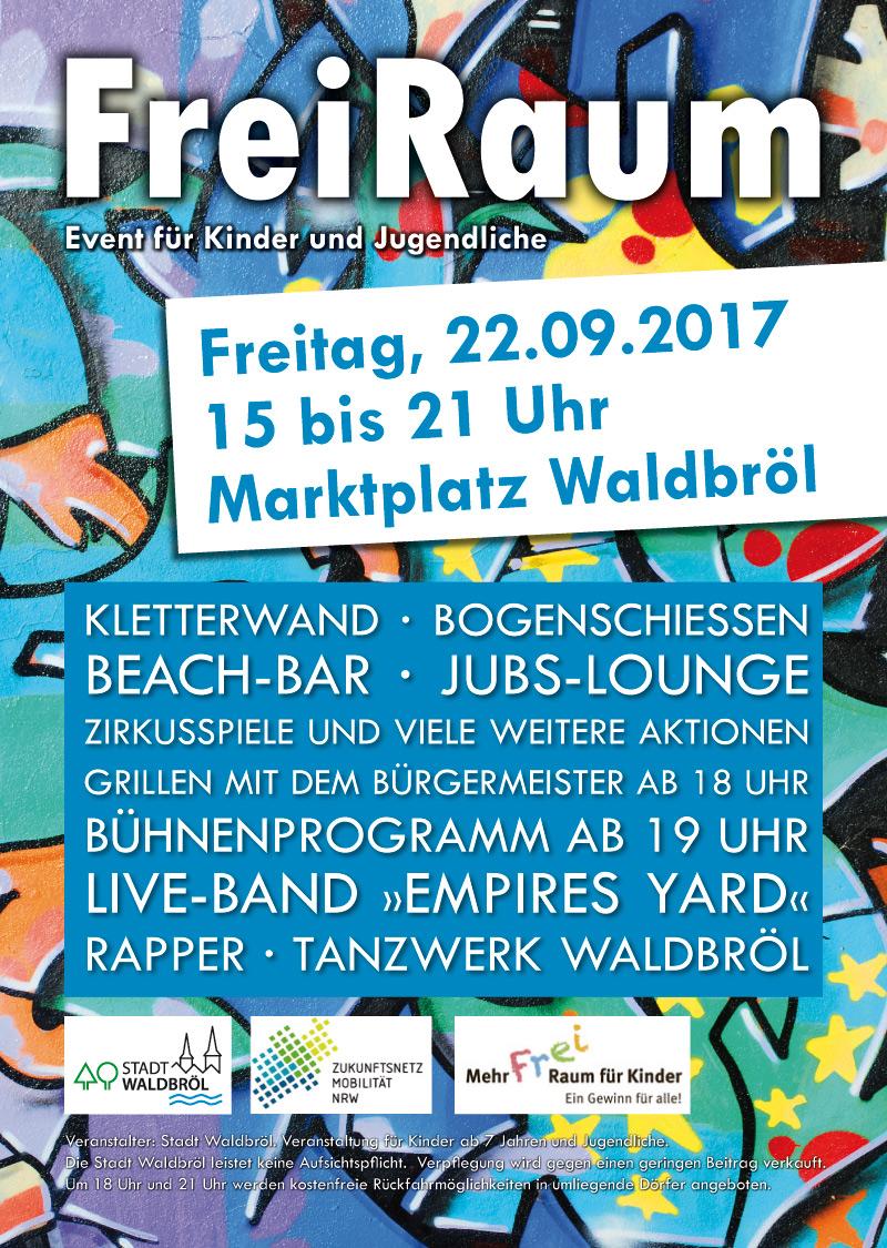 """Plakat zur Veranstaltung """"FreiRaum"""""""
