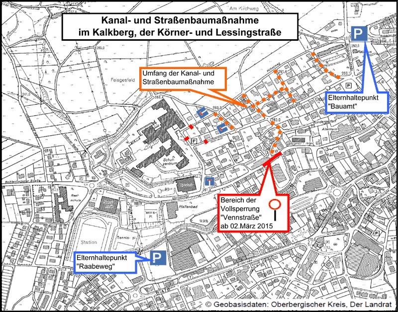 Vollsperrung der Vennstraße noch bis zum 24.04.2015