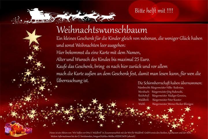 Aktion Weihnachtswunschbaum