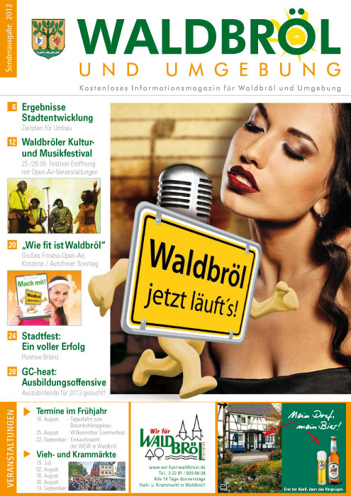 Titelseite des aktuellen Magazins »Waldbröl und Umgebung«