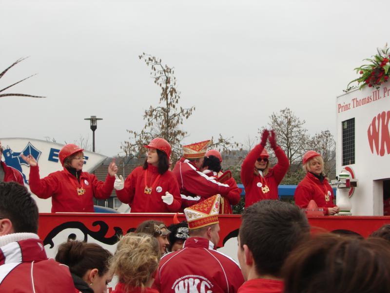 Prunkwagen der WKG vom letztjährigen Karnevalsumzug in Waldbröl