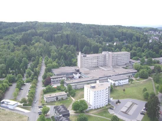 Das Kreiskrankenhaus Waldbröl aus der Vogelperspektive