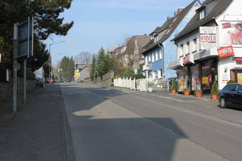 Die Bahnhofstraße in Waldbröl