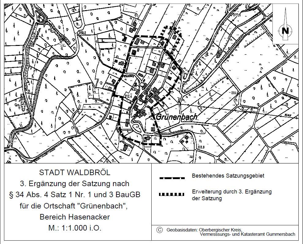 Bebauungsplan Grünenbach