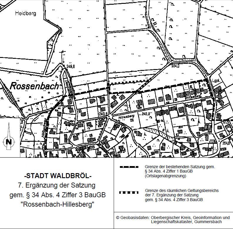 Bebauungsplan Waldbröl-Rossenbach