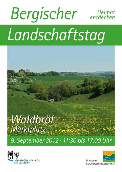 Plakat zum Bergischen Landschaftstag in Waldbröl