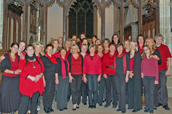 Der Gospelchor Sister Act bei einem Besuch in Witham (England)