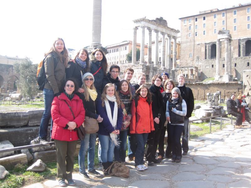 Die Hollenberg-Schüler aus Waldbröl in Rom