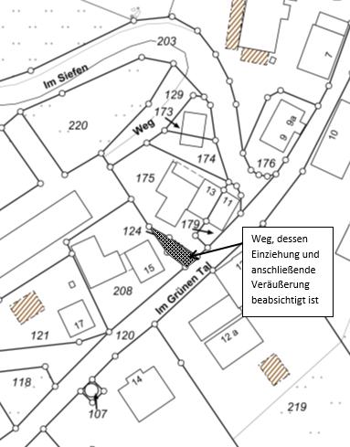 """Flurkarte """"Im Grünen Tal"""", Waldbröl Schnörringen"""