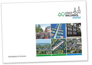 Titelseite der Imagebroschüre der Stadt Waldbröl