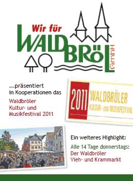 Die Wir für Waldbröl GmbH präsentiert das Waldbröler Kultur- und Musikfestival