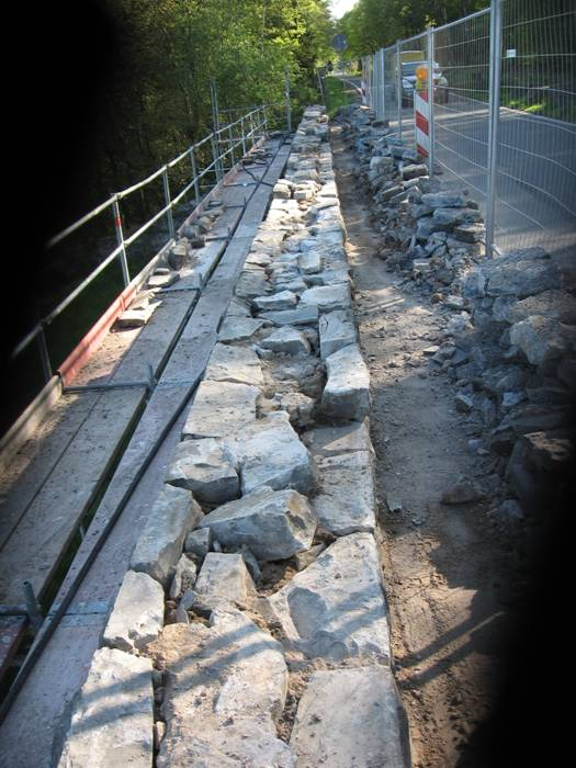 Schäden an der Mauer Schäden an der Mauer
