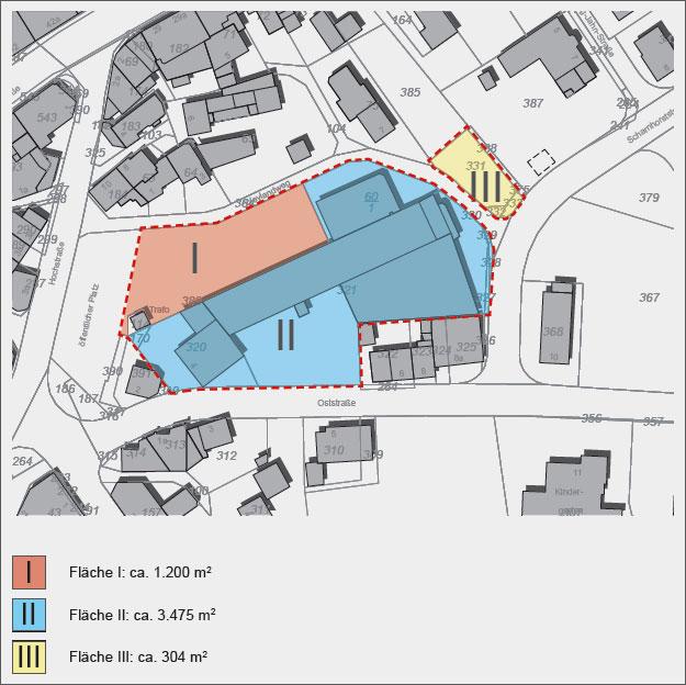 Planskizze der Grundstücksflächen