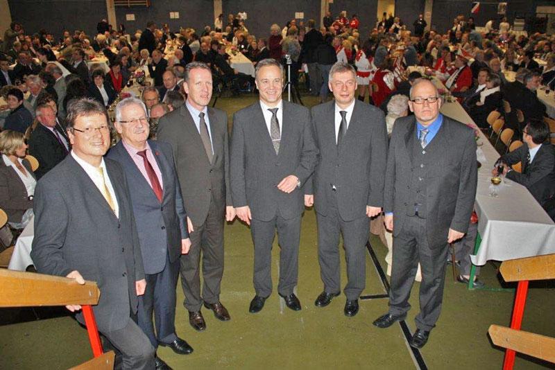 Bürgermeister Peter Koester bei der Neujahrsansprache 2012