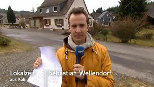 WDR Op Jöck: Lokalzeit-Reporter Sebastian Wellendorf in Wilkenroth bei Waldbröl