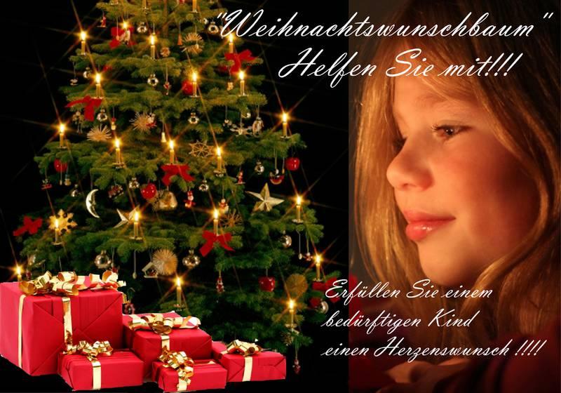 Wir helfen vor Ort e.V. Weihnachtswunschbaum