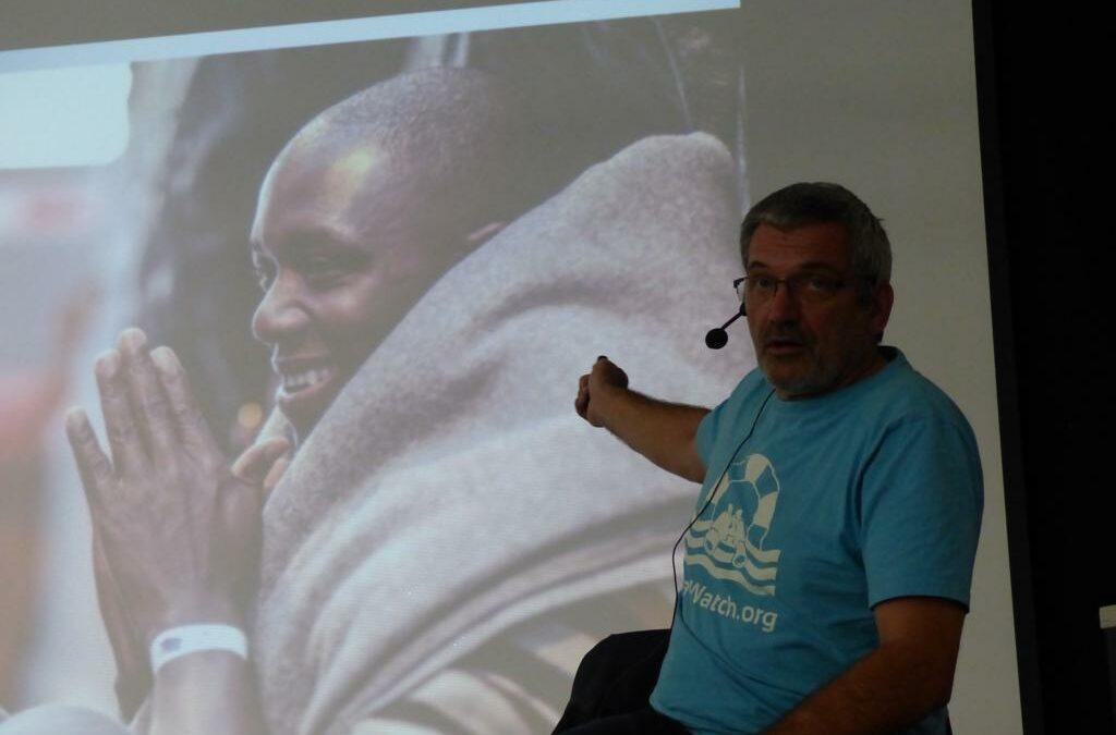 """Mit selbstgemachten Bildern unterstützte Kurt Schiwy seine Erfahrungsberichte von der """"Sea Watch 3"""""""