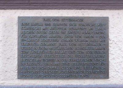 Gedenktafel Paul von Bettenhagen