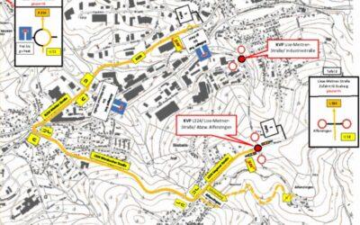 Baubeginn für zwei Kreisverkehrsplätze an der Lise-Meitner-Straße in Waldbröl