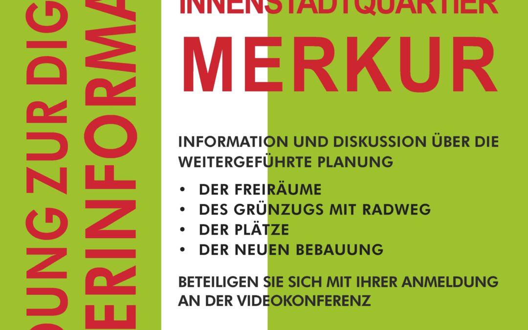 Videokonferenz zum Innenstadtquartier Merkur am 31.03.2021