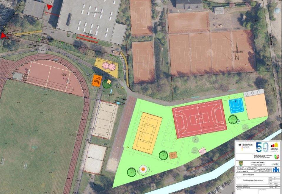 640.000 € für den Sportpark im Schulzentrum – Ausführungsplanung vorgestellt