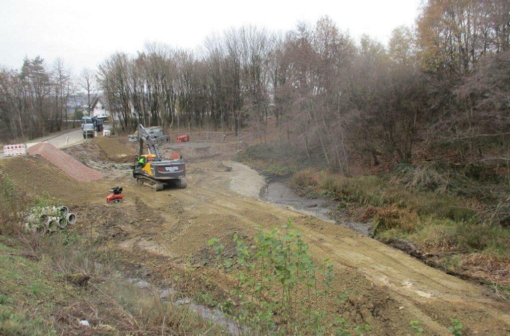 Informationen zum Bau des Kreisverkehrsplatzes Industrie-/ Lise-Meitner-Straße